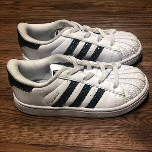 Adidas shell toe iridescent stripes (kids)